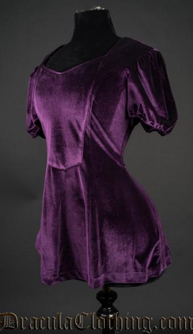 Purple Velvet Tunic