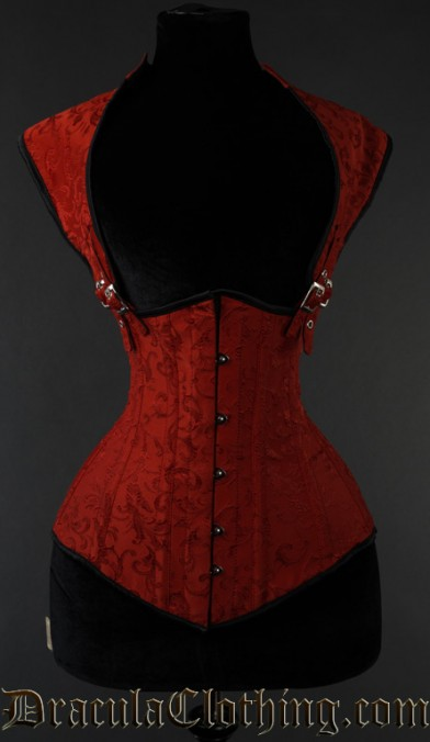 Red Brocade Apocalyptic Corset