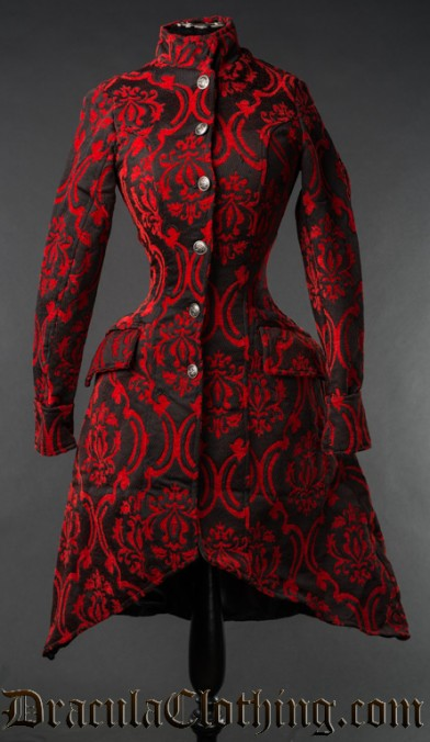 Red Brocade Autumn Coat