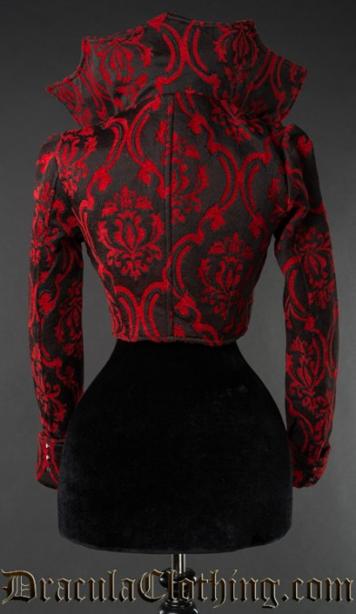Red Brocade Evil Queen Jacket
