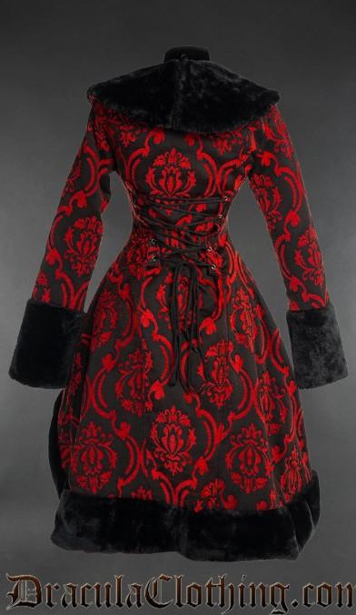 Red Brocade Princess Coat