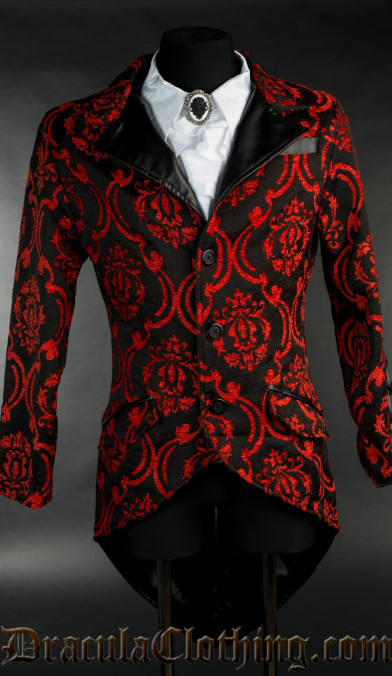 Red Brocade Tailcoat