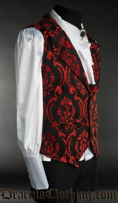 Red Brocade Waistcoat