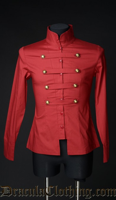 Red Cotton Naval Shirt