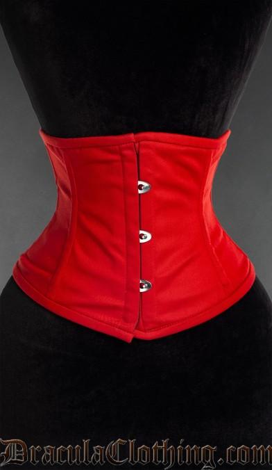 Red Cotton Waist Cincher