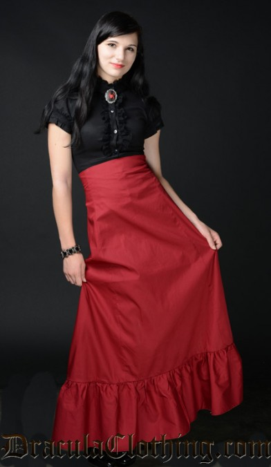 Red High Waist Skirt