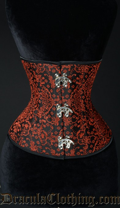 Red Jacquard Clasp Corset