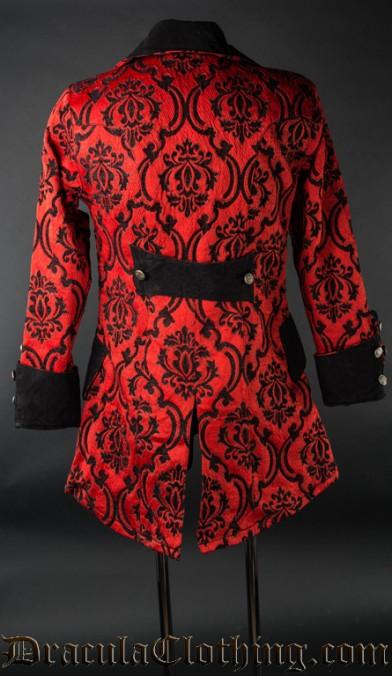 Red Jacquard Pirate Jacket