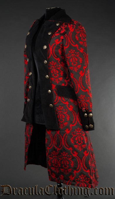 Red Pirate Princess Coat