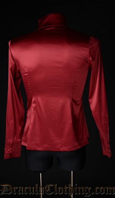 Red Satin Naval Shirt