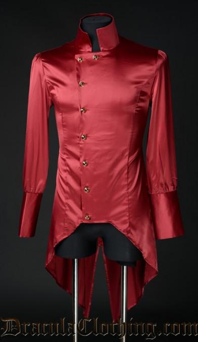 Red Satin Regal Shirt
