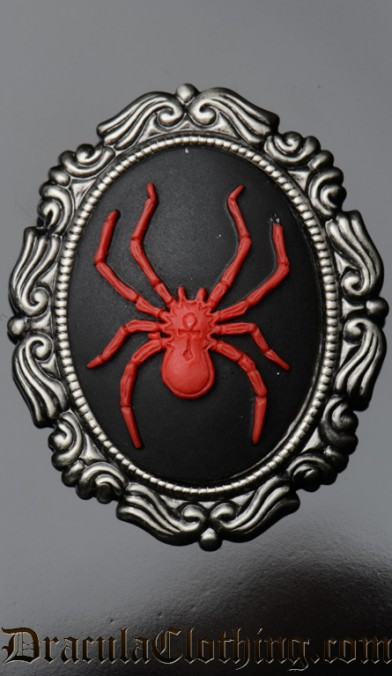 Red Spider Brooch