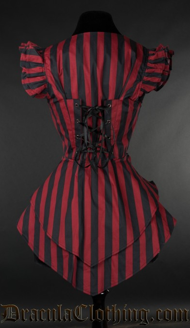 Red Striped Tailcoat Vest