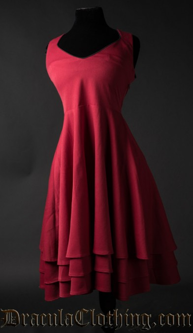 Red Three Layer Dress