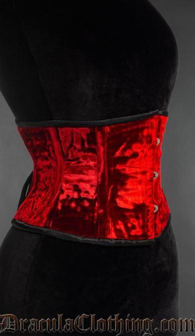 Red Velvet Waist Cincher