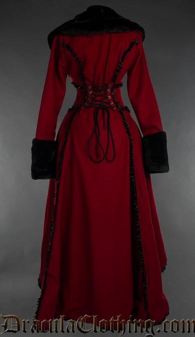 Red Wool Evil Queen Coat