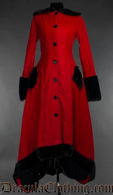 Red Wool Warm Winter Coat