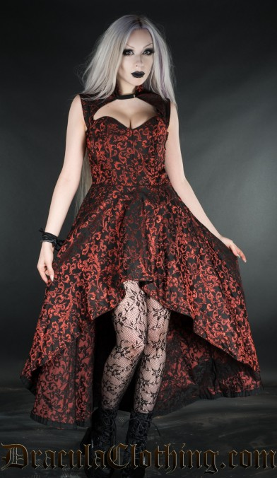 Ruby Steel Choker Dress