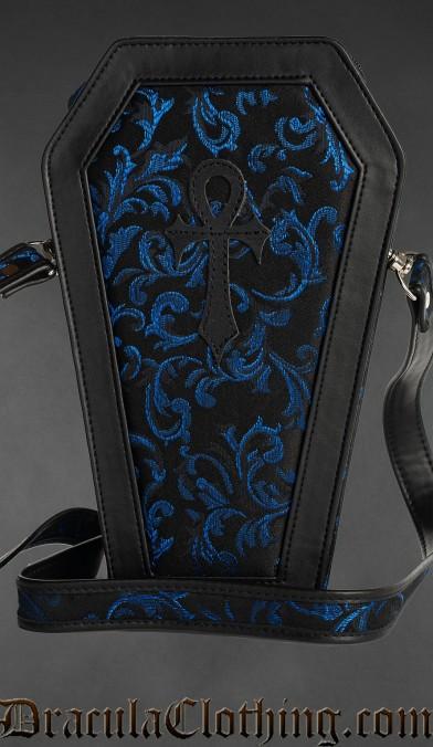 Sapphire Ankh Coffin Bag