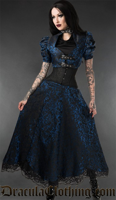 Sapphire Lace Skirt
