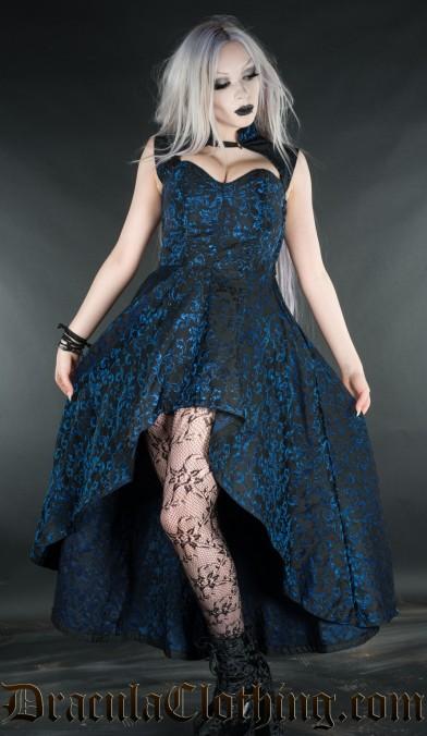 Sapphire Steel Choker Dress