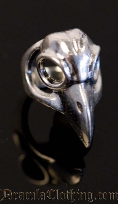 Short Bird Skull Ring