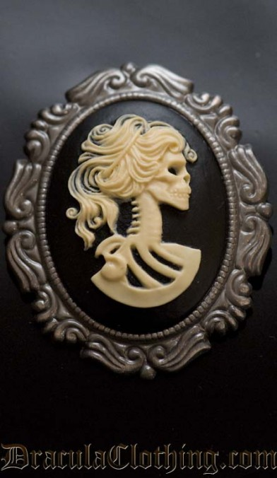 Skeleton Lady Brooch