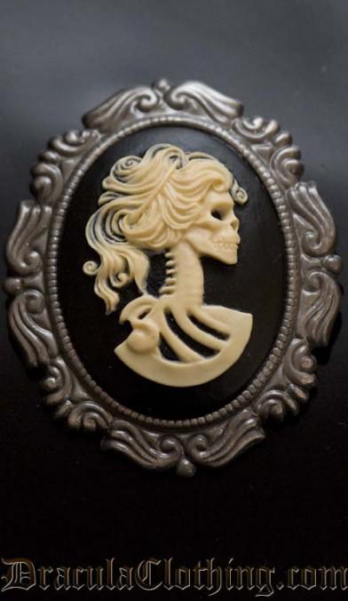 Skeleton Lady Brooch