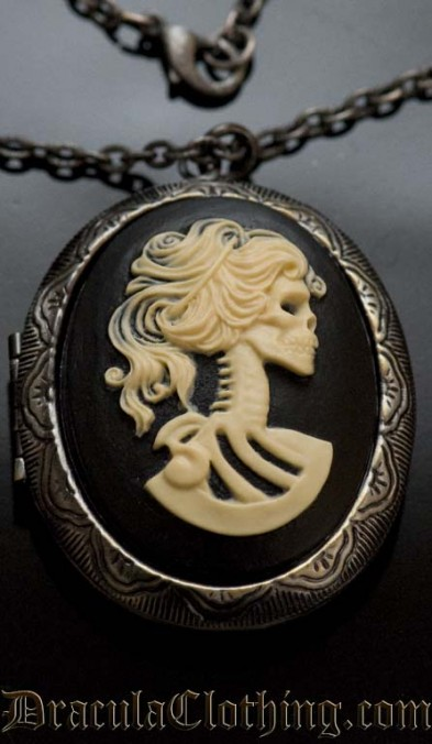 Skeleton Lady Locket
