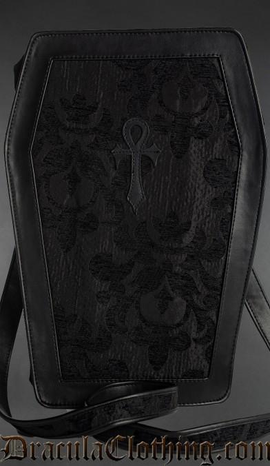 Skull Brocade Big Ankh Coffin Bag