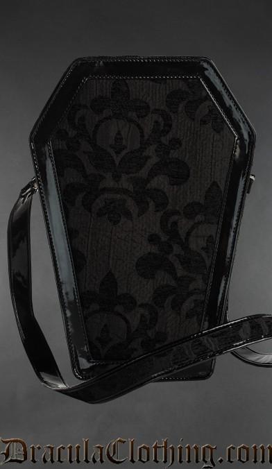 Skull Brocade Coffin Bag