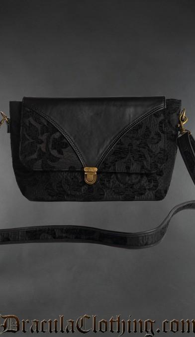 Skull Brocade Shoulder Bag
