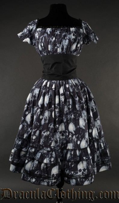 Skulls Gothabilly Dress