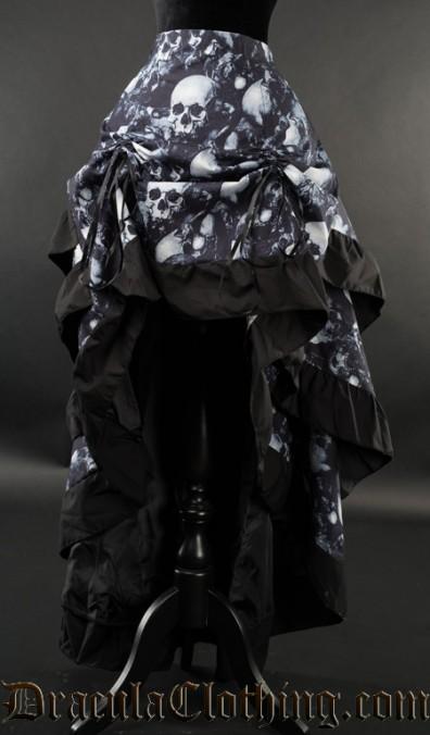 Skulls Layer Bustle Skirt