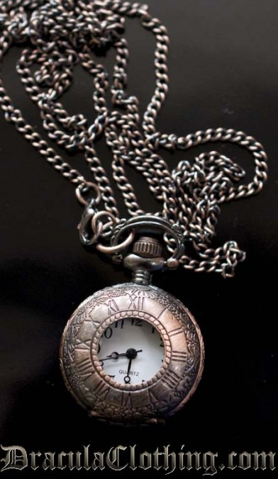 Small Copper Necklace Watch