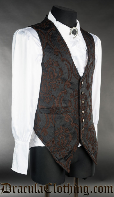 Steampunk Brocade Long Vest