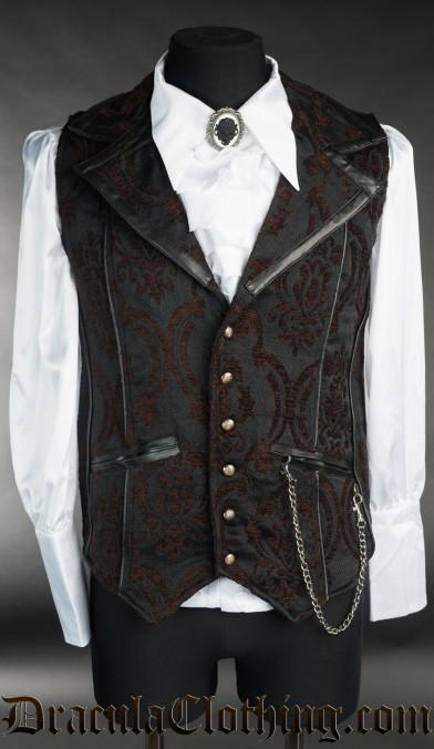 Brocade Steampunk Tesla Vest