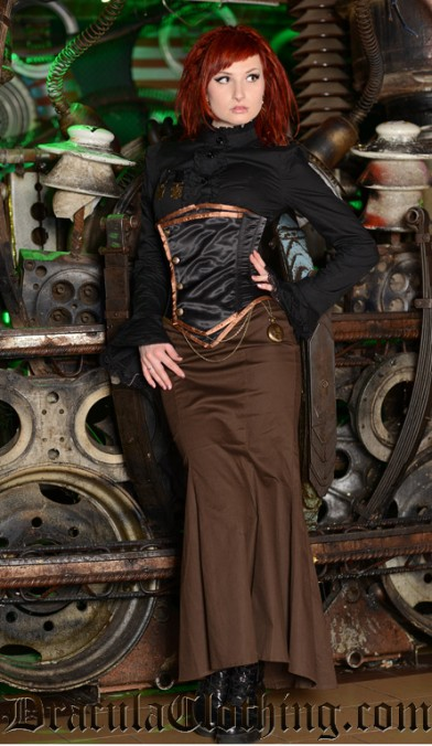 Steampunk Fishtail Skirt