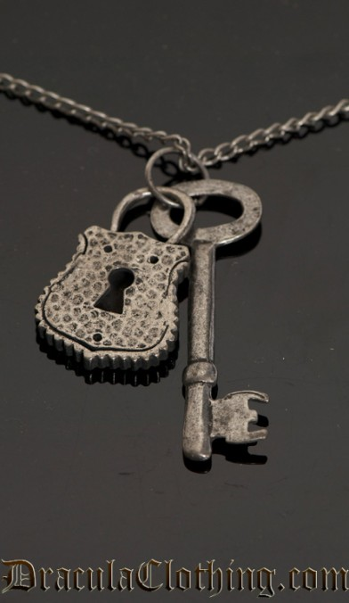 Steampunk Key And Lock Necklace
