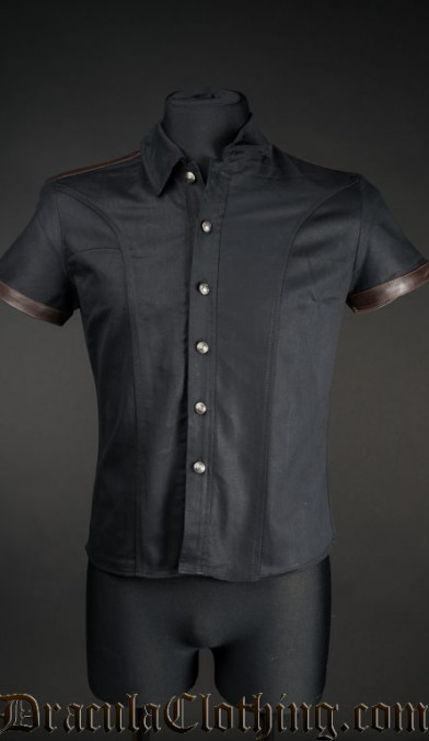 Steampunk Faux Leather Shirt