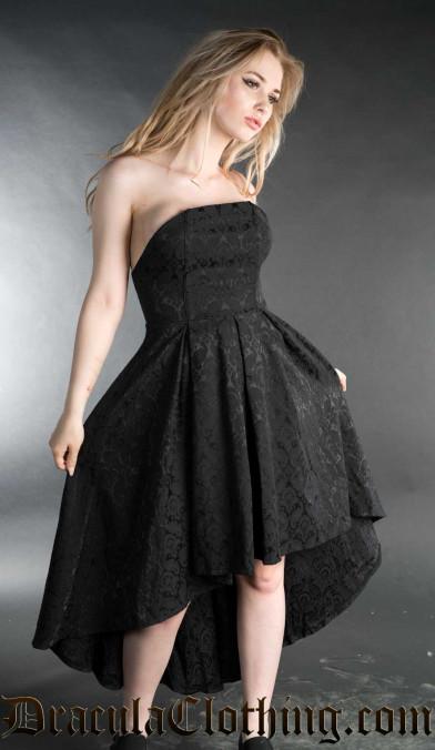 Strapless Brocade Dress