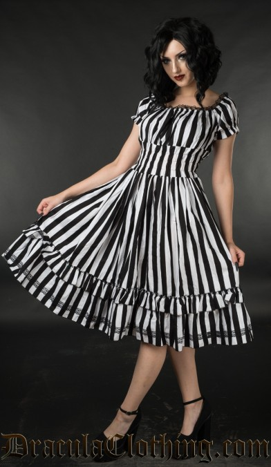 Home page for dracula clothing striped gothabilly dress striped gothabilly dress gumiabroncs Image collections