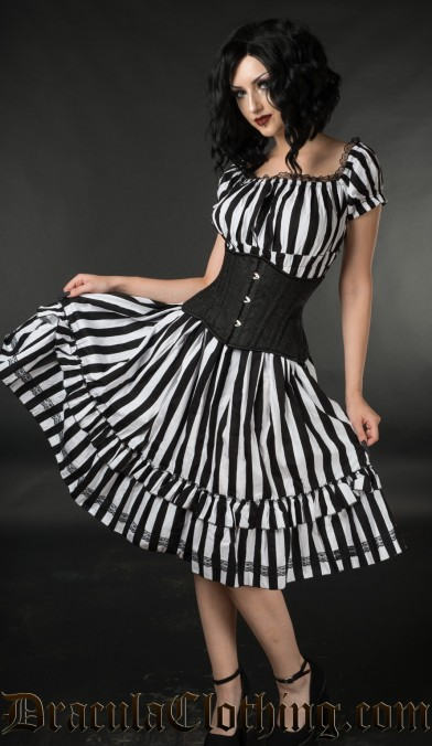 Striped Gothabilly Dress