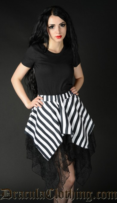Striped Widow Skirt