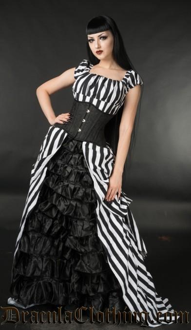 Striped Victorian Dress