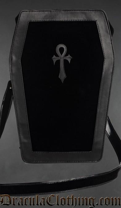 Velvet Big Ankh Coffin Bag