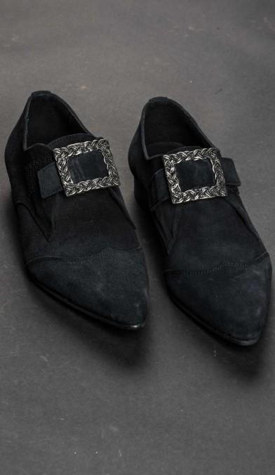 Velvet Buckle Shoes