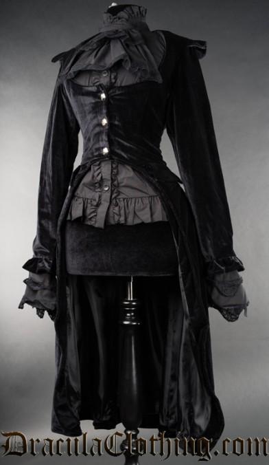 Black Velvet EGA Coat