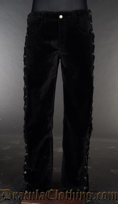 Velvet Laced Pants
