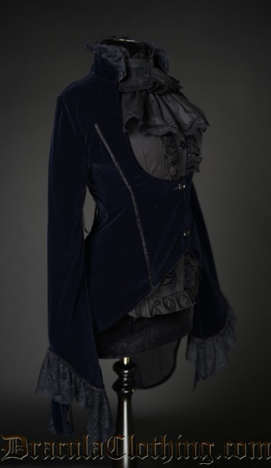 Midnight Blue Velvet Tailcoat